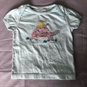 Boden turtle appliqué short sleeve tee, 18-24
